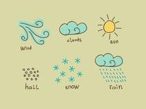 Weather design elements Stock Photos