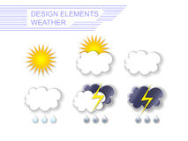 Weather design elements Stock Image