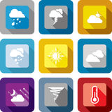 Weather design icon set Stock Photos
