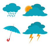 Weather design, vector illustration. Stock Image