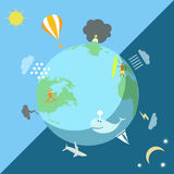 The weather on the Earth. The vector picture. EPS 10 Royalty Free Stock Photos
