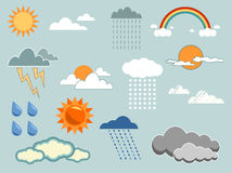 Weather elements stock illustration