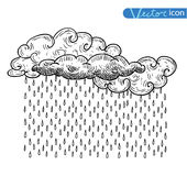 Weather elements, vector illustration Royalty Free Stock Photos