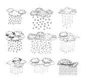 Weather elements, vector illustration. Royalty Free Stock Photo