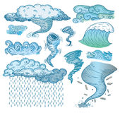 Weather elements, vector illustration Stock Photography