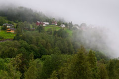 Weather event: Fog covers homes Royalty Free Stock Photo