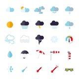 Weather flat design  icons set Stock Images