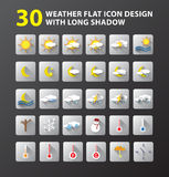 Weather flat icon design Stock Photos