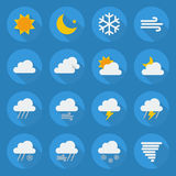 Weather Flat Icon Set Royalty Free Stock Images