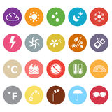 Weather flat icons on white background Stock Photo
