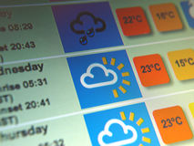 Weather forecast Stock Photos