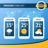 Weather Forecast Background stock illustration