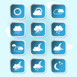 Weather forecast, banners, buttons -weather symbol Royalty Free Stock Images