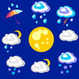 Weather forecast. Beautiful and simple graphics on precipitation Royalty Free Stock Image