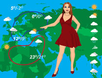Weather forecast Stock Photography