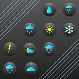 Weather forecast buttons Stock Image