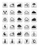Weather forecast buttons set Stock Image