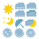 Weather forecast color baby cute icon Stock Images