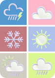 Weather forecast 3d set Stock Images