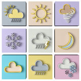 Weather forecast 3d set Royalty Free Stock Photography
