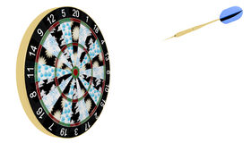 Weather predictions. Dartboard method of forecasting the weather Stock Photos