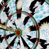 Dartboard Weather Forecast. Dartboard method of forecasting the weather Stock Image