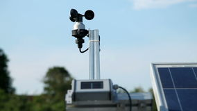 A weather forecast device. Close up of a weather forecast device stock video footage