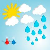 Weather forecast flat isometric vector illustration Stock Image