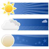 Weather Forecast Horizontal Banners Royalty Free Stock Image