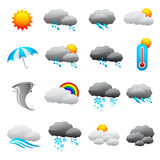 Weather Forecast Icon. Vector illustration of collection of weather forecast icon Stock Image