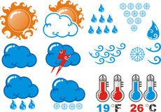 Weather forecast icon Royalty Free Stock Image
