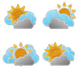 Weather forecast icon in fabric style . Royalty Free Stock Photos