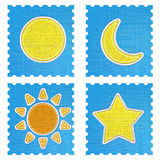 Weather forecast icon in fabric style . Stock Images