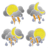 Weather forecast icon in fabric style . Stock Photography