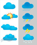 Weather forecast icon. Set of weather forecast  icon Stock Photography