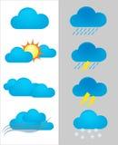 Weather forecast icon Stock Photography