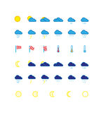 Weather forecast icon set Stock Images