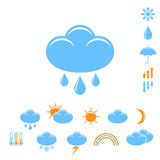 Weather forecast. Icon set. Vector illustration EPS Royalty Free Stock Photography