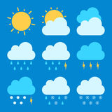 Weather forecast icon sets. Illustration, weather forecast icon sets, format EPS 8 Royalty Free Stock Image