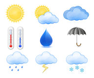 Weather Forecast Icons Royalty Free Stock Photography