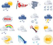 Free Weather Forecast Icons Stock Photography - 9275362