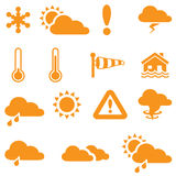 Weather Forecast Icons Stock Images