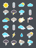 Weather forecast   icons set Stock Images