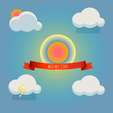 Weather forecast icons set Royalty Free Stock Images