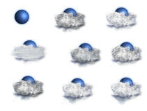 Weather Forecast Icons Set, on a white background stock footage