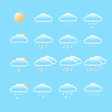 Weather forecast icons Royalty Free Stock Photos