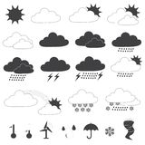 Weather Forecast Icons Vector Collection Stock Images