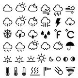 Weather forecast icons. Vector Stock Photography