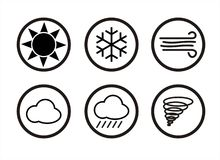 Weather Forecast Icons. In Vectors Stock Images