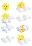 Weather forecast icons Stock Image